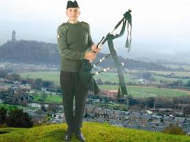 Argyll & Sutherland Highlanders view of Stirling, William Wallace